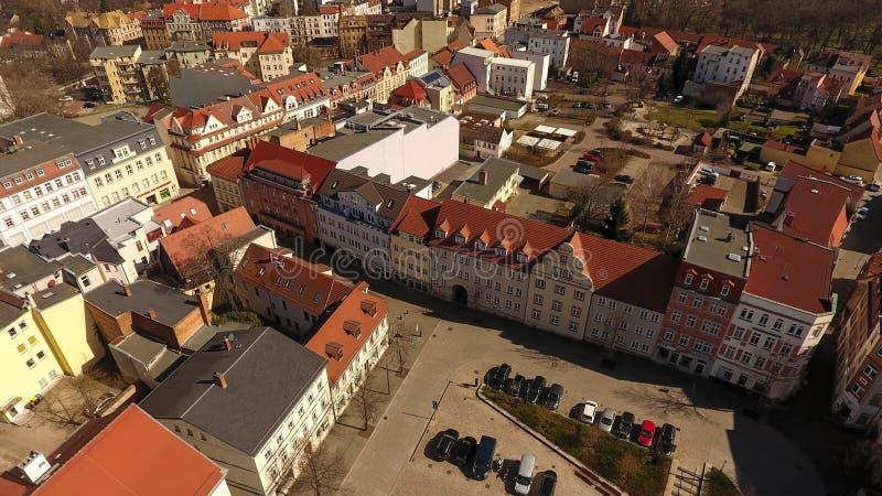 Alte Stadt Deutschland Sachsen-Anhalt Zeitz-Vogelperspektive stockbilder