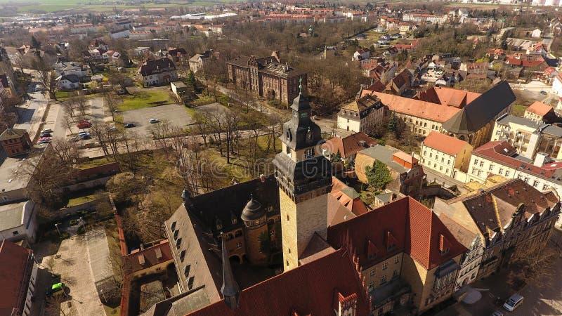Alte Stadt Deutschland Sachsen-Anhalt Zeitz-Vogelperspektive lizenzfreie stockfotografie