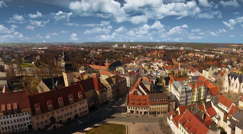 Alte Stadt Deutschland Sachsen-Anhalt Zeitz-Vogelperspektive lizenzfreie stockfotos