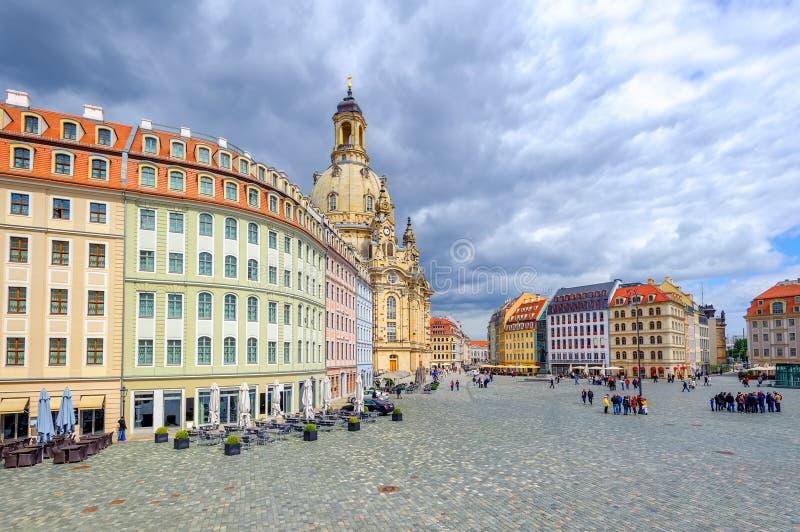 Alte Stadt Dresdens, Deutschland stockbilder