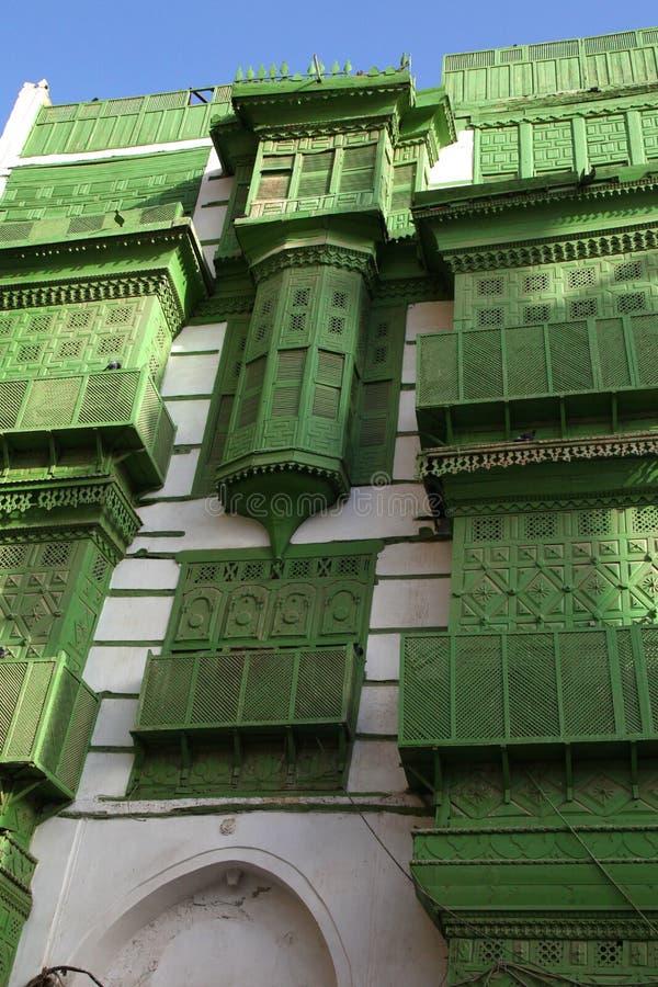 Alte Stadt in Dschidda, Saudi-Arabien bekannt als ` historisches Dschidda-` Alte und Erbgebäude und -straßen in Dschidda Schattie stockfotos