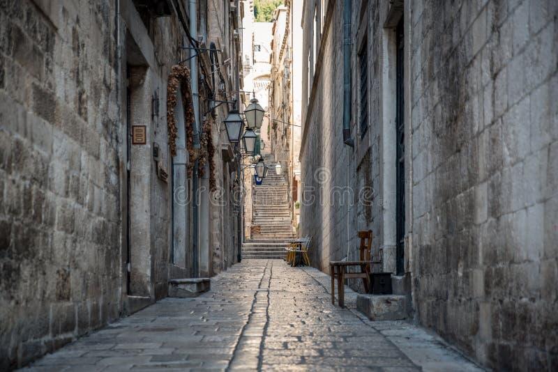 Alte Stadt Dubrovnik Kroatien stockfotos