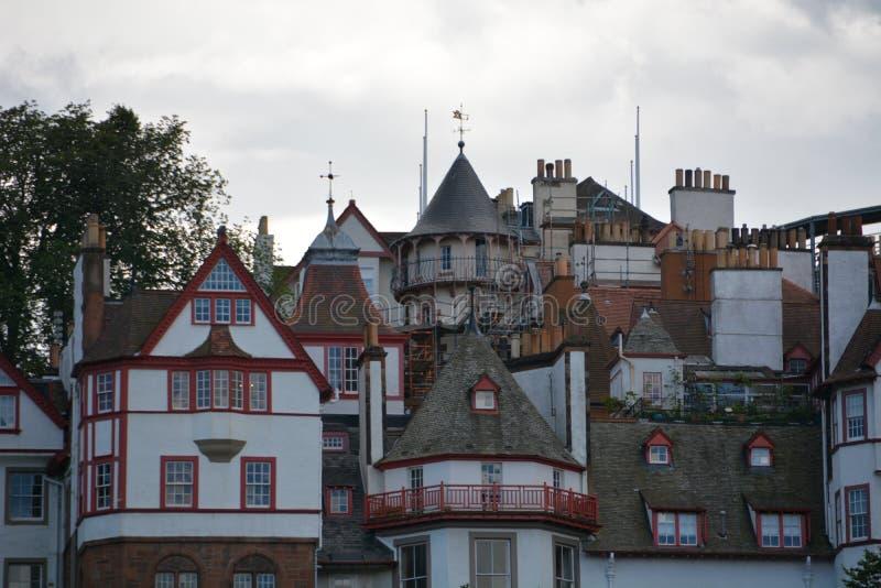 Alte Stadt Edinburgh stockfotos