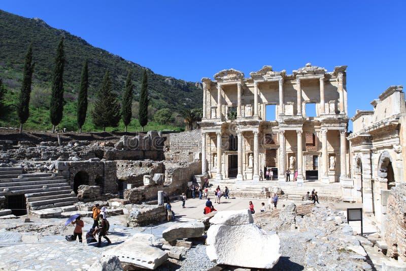Alte Stadt in Ephesus stockbild