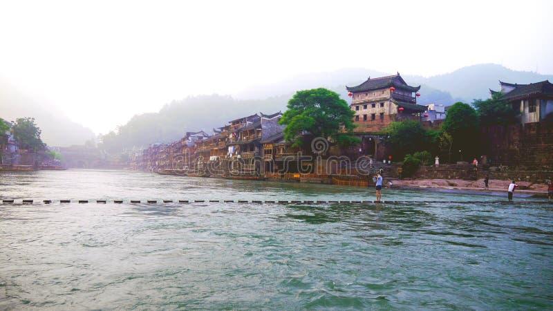 Alte Stadt Fenghuang lizenzfreies stockbild