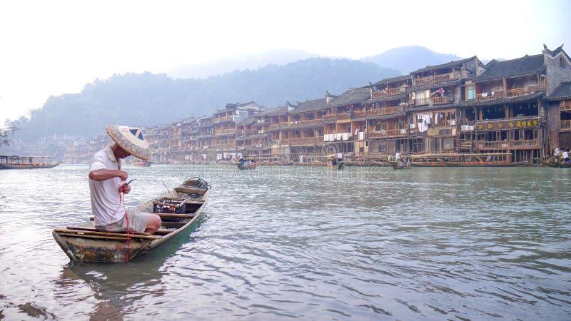 Alte Stadt Fenghuang lizenzfreie stockfotos