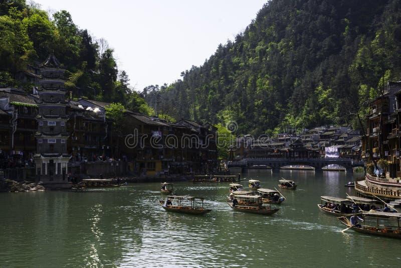 Alte Stadt Fenghuang, Hunan stockbild