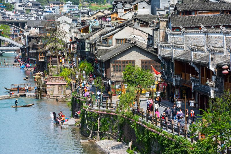 Alte Stadt Fenghuang, Hunan stockfoto