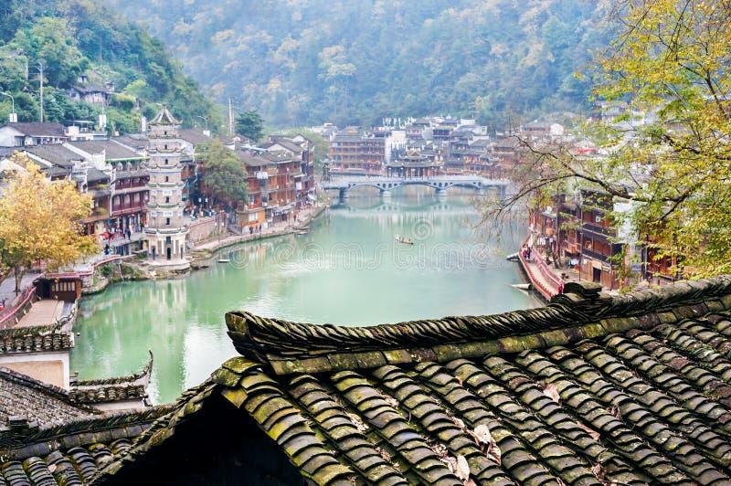 Alte Stadt Fenghuang, Provinz Hunan, China lizenzfreies stockbild