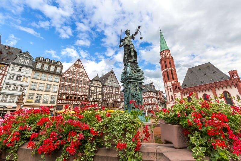 Alte Stadt Frankfurts lizenzfreie stockfotos