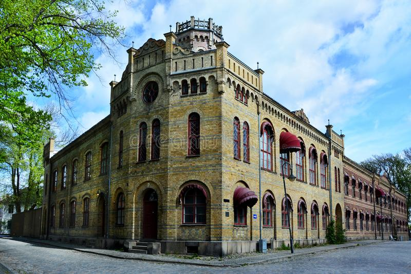 Alte Stadt Gamlebyen Fredrikstad, Norwegen stockfotografie