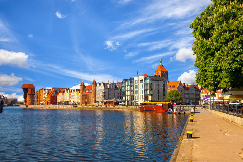 Alte Stadt in Gdansk lizenzfreie stockfotografie