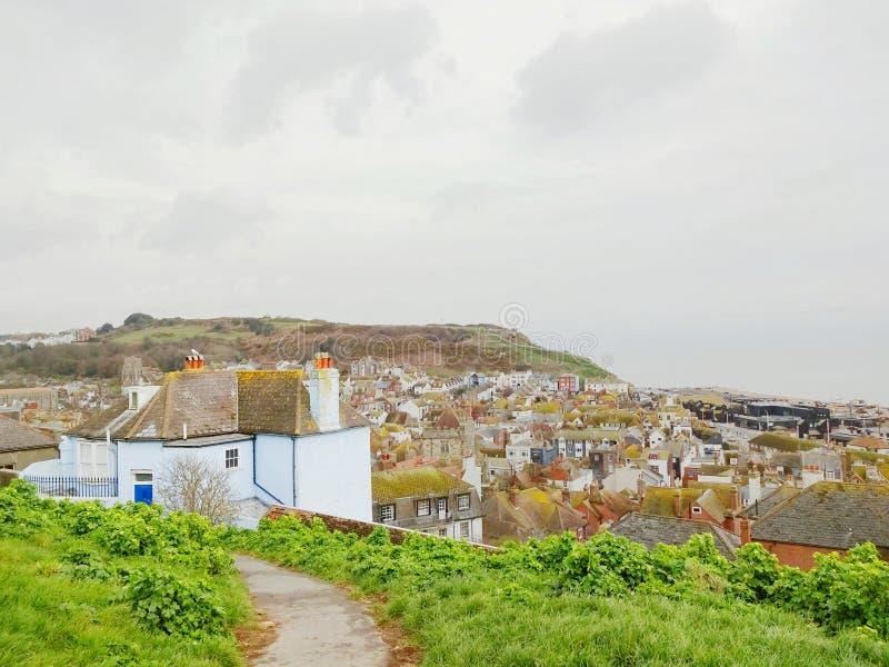 Alte Stadt in Hastings lizenzfreies stockfoto