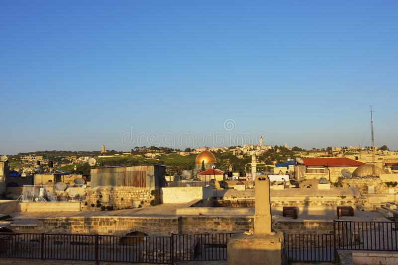 Alte Stadt Jerusalems, Israel stockbilder