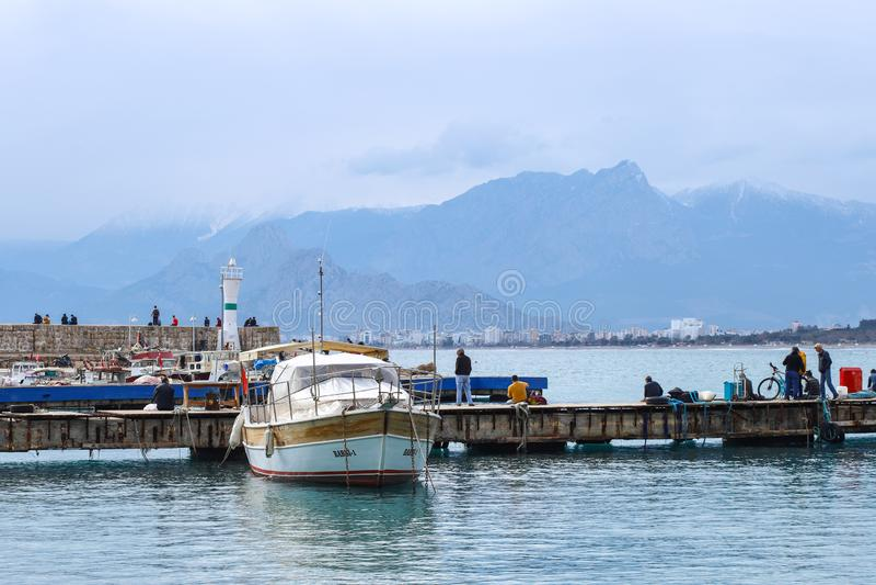 alte Stadt Kaleici der neuen Küste des Fotos 2019 in Antalya, die Türkei stockfoto