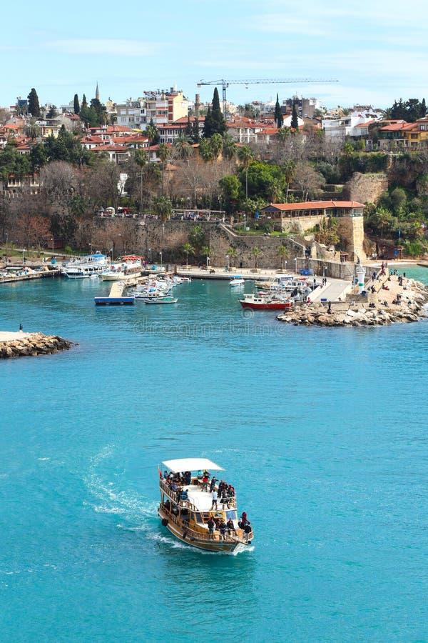 alte Stadt Kaleici des neuen Fotos 2019 in Antalya, die Türkei stockfotos