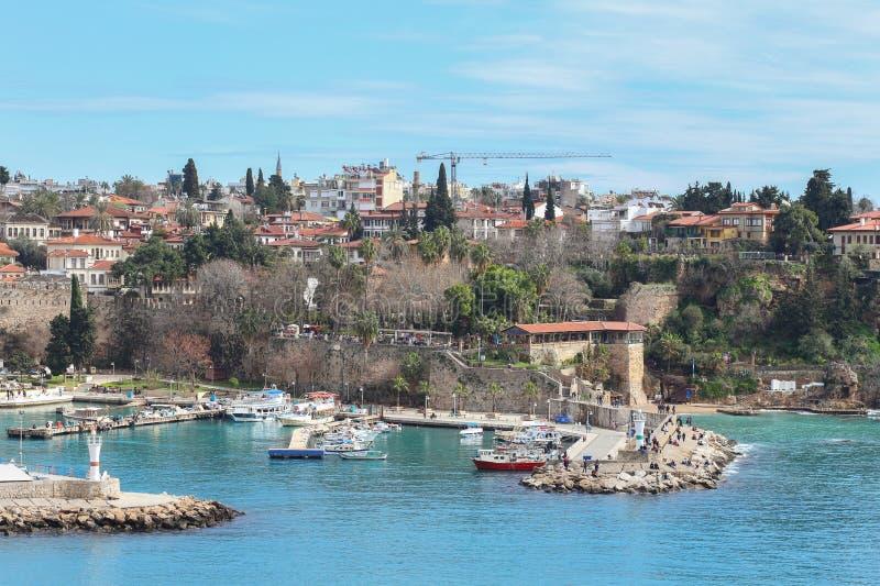 alte Stadt Kaleici des neuen Fotos 2019 in Antalya, die Türkei lizenzfreies stockfoto