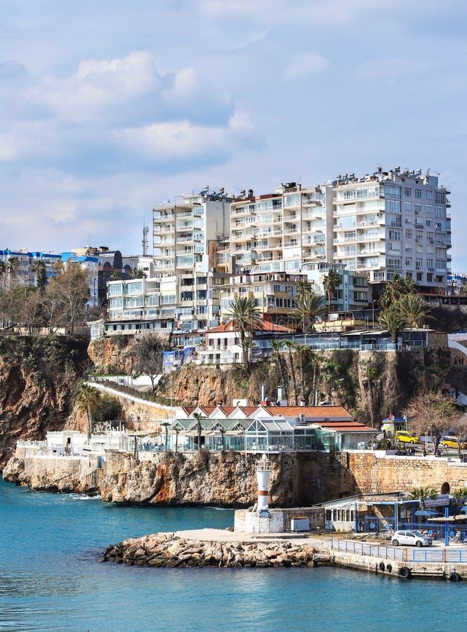 alte Stadt Kaleici des neuen Fotos 2019 in Antalya, die Türkei lizenzfreie stockfotos