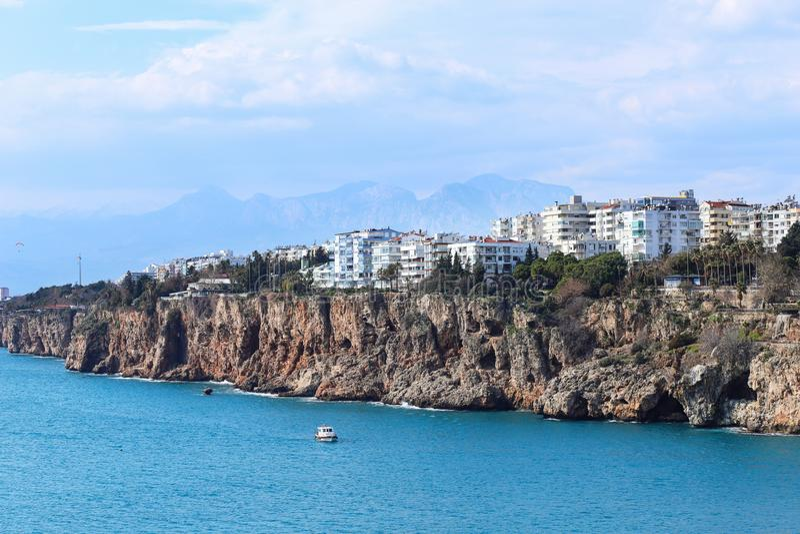 alte Stadt Kaleici des neuen Fotos 2019 in Antalya, die Türkei lizenzfreie stockbilder