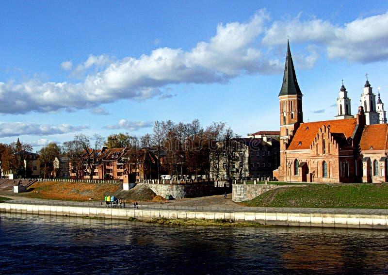 Alte Stadt Kaunas stockbild