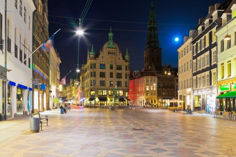 Alte Stadt in Kopenhagen, Dänemark stockfotografie