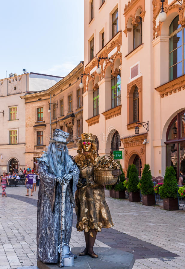 Alte Stadt - Krakau-Polen lizenzfreies stockbild