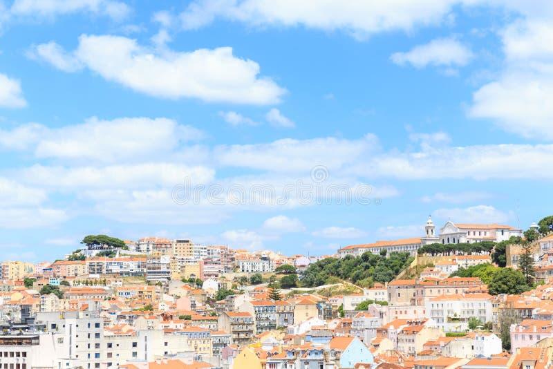 Alte Stadt Lissabon und Castelo de Sao Jorge stockfotografie