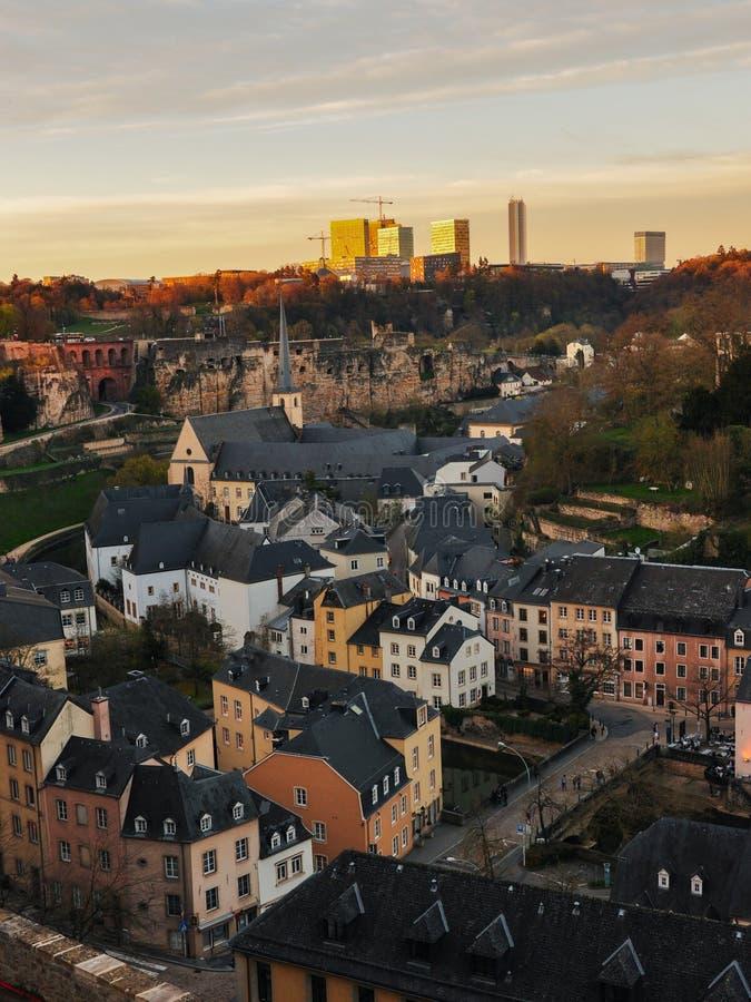 Alte Stadt Luxemburgs stockbild