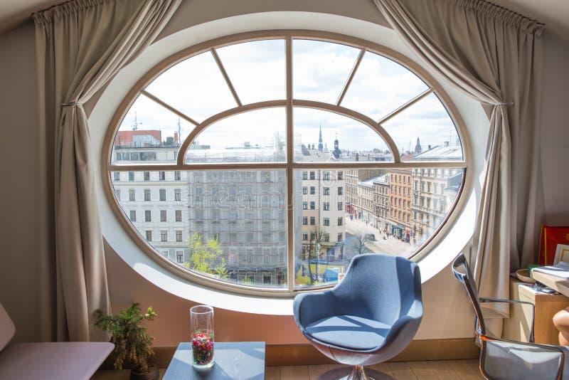 Alte Stadt-Mitte, Haupt-desig und Dachstadium stockbilder