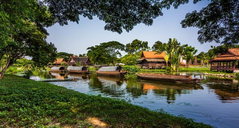 Alte Stadt Mueang Boran, Bangkok, Thailand stockbilder