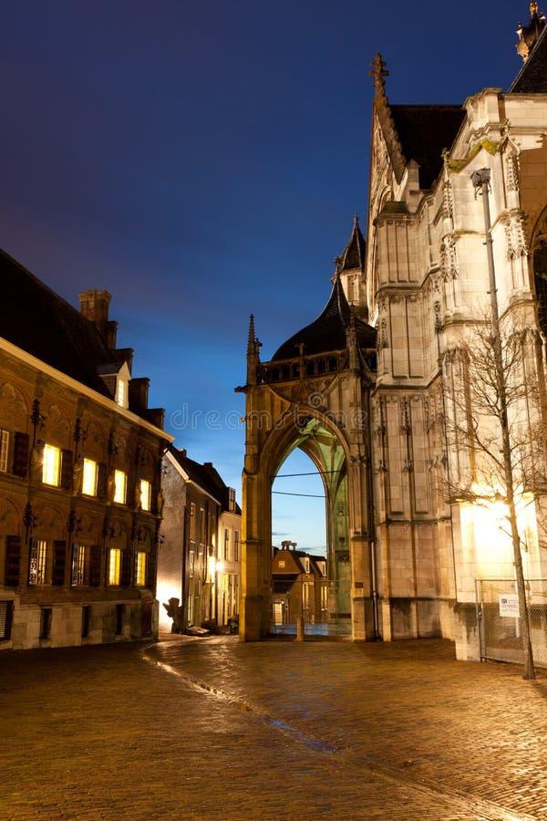 Alte Stadt nachts lizenzfreie stockbilder