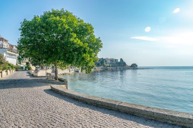 Alte Stadt Nessebar auf der bulgarischen Schwarzmeerküste Nesebar oder Nesebr ist eine UNESCO-Welterbestätte Nessebar an einem so stockfotografie