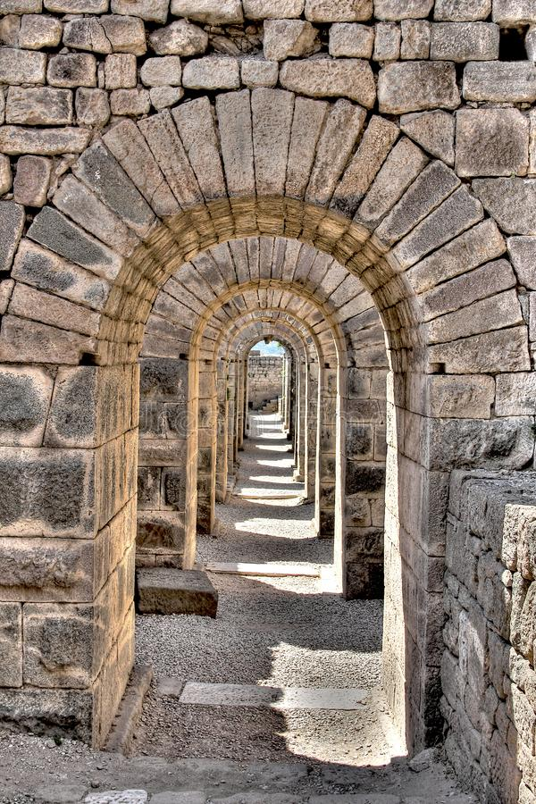 Alte Stadt Pergamons in Izmir, die Türkei stockfoto