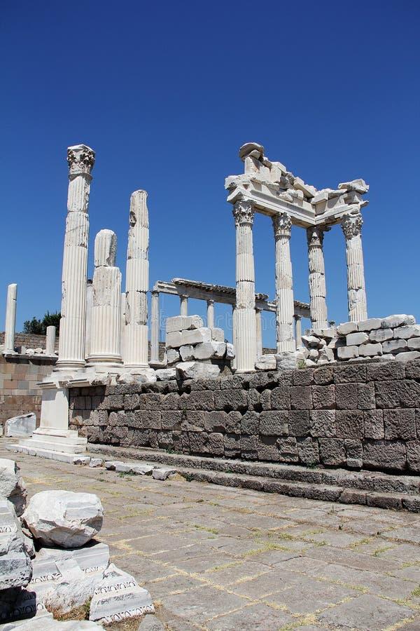 Alte Stadt Pergamons in Izmir, die Türkei stockfotos