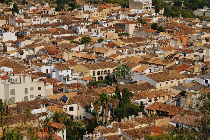 Alte Stadt Pollensa, Majorca lizenzfreies stockfoto
