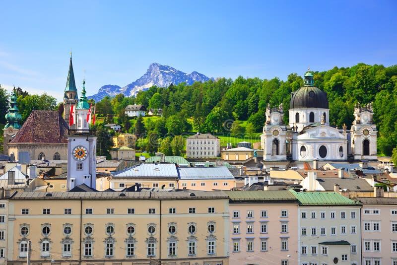 Alte Stadt Salzburg lizenzfreie stockfotografie