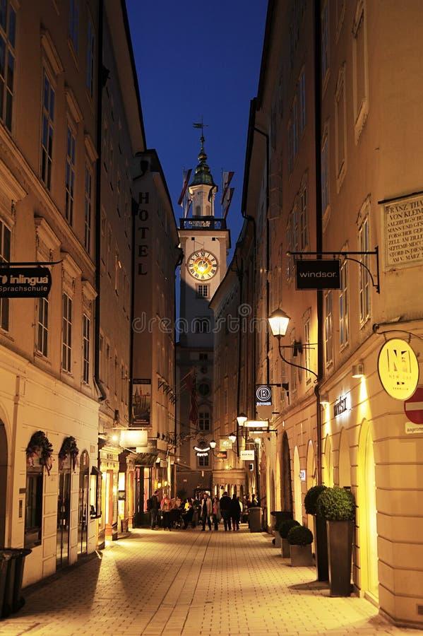 Alte Stadt Salzburgs lizenzfreies stockbild