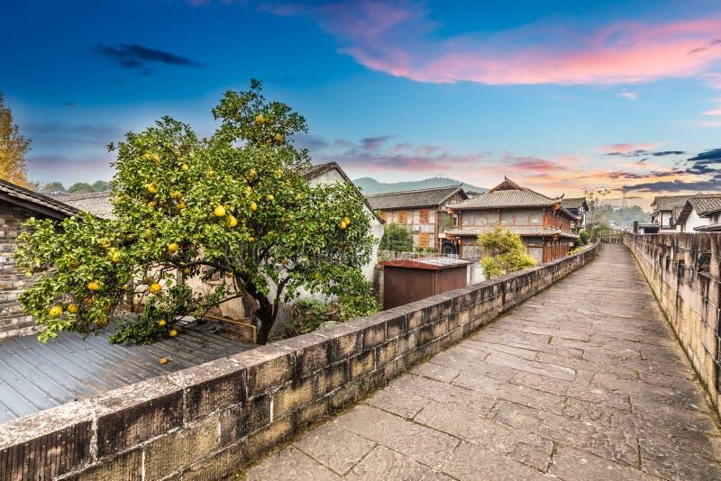 Alte Stadt in Sichuan-Porzellan lizenzfreie stockfotos