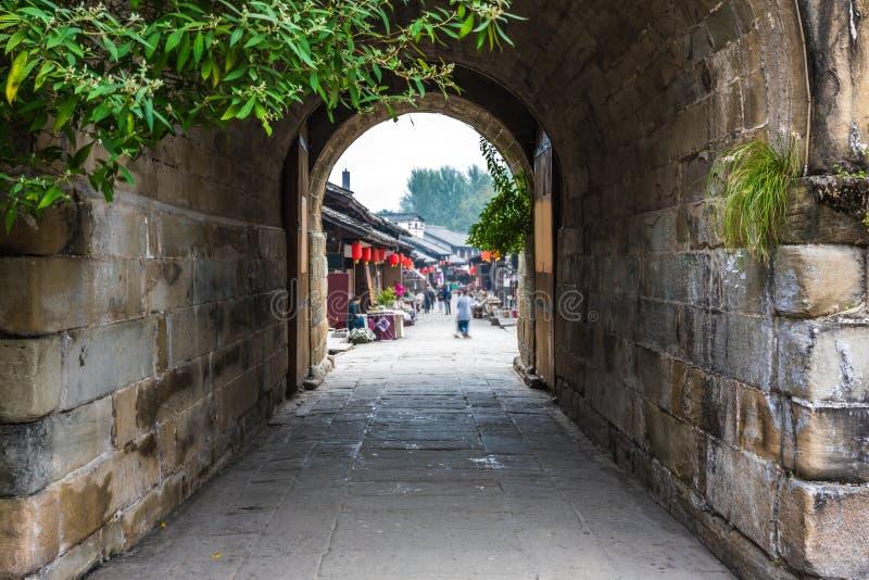 Alte Stadt in Sichuan-Porzellan stockfotografie