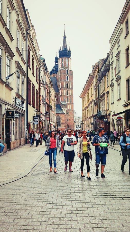 Alte Stadt an sonnigem Tag 2 stockbild
