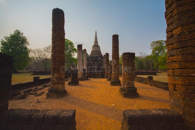 Alte Stadt Sukhothai stockfotos