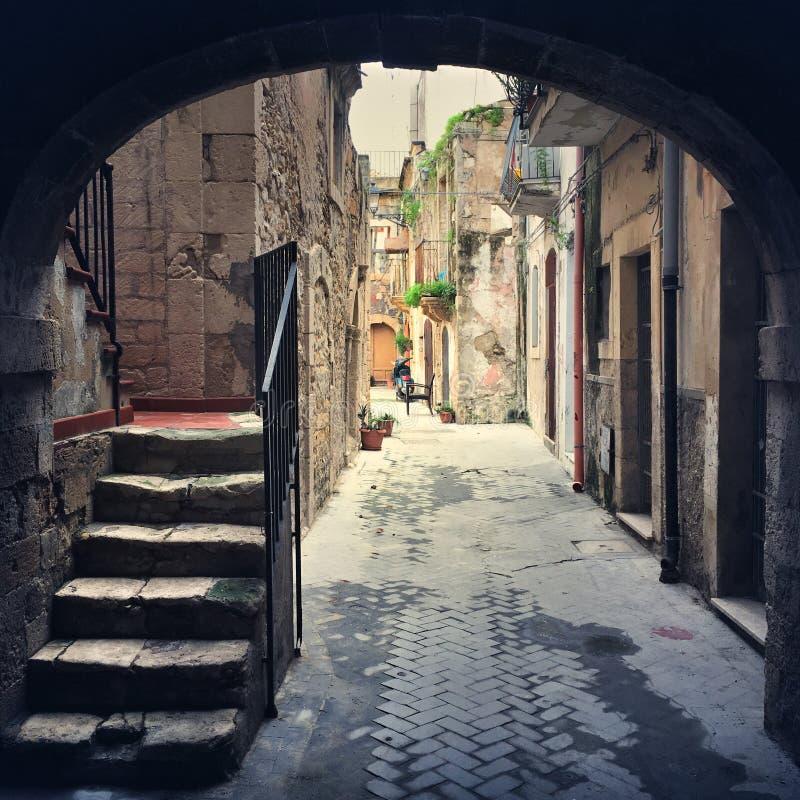 Alte Stadt Syrakus stockfoto