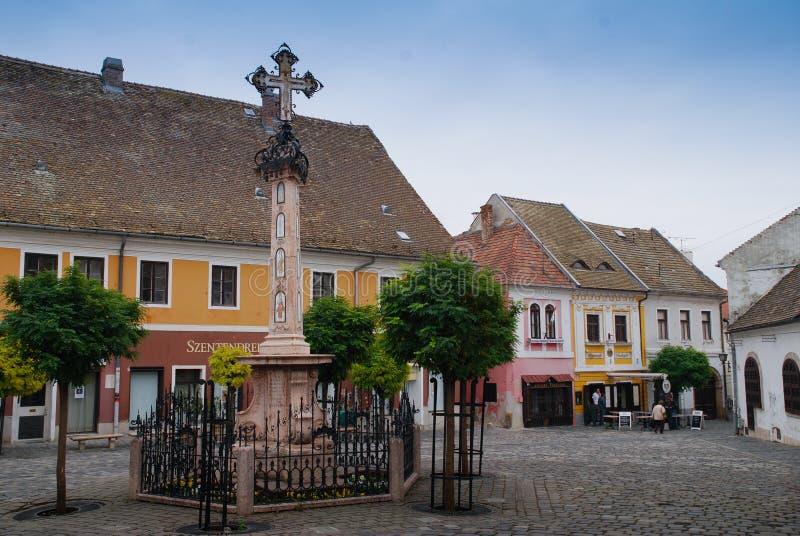Alte Stadt Szentendre in Ungarn lizenzfreie stockfotos