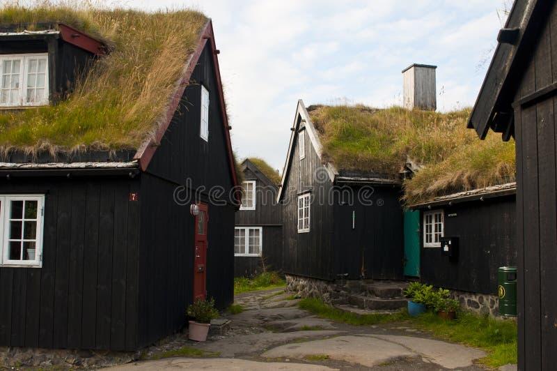 Alte Stadt Torshavn, Färöer lizenzfreie stockfotos