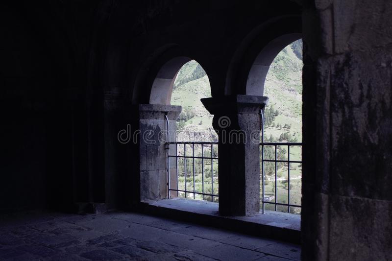 Alte Stadt und Höhlenstadt lizenzfreies stockbild