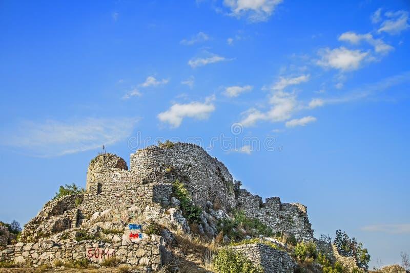 Alte Stadt Uzice Serbien der Festung lizenzfreies stockfoto