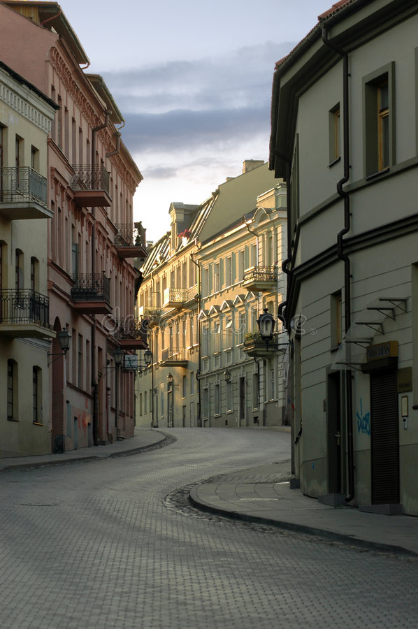 Alte Stadt. Uzupis lizenzfreie stockbilder