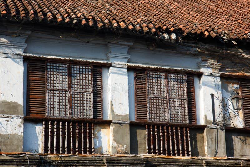 Alte Stadt Vigan errichtet vom Spanischen in der Kolonialzeit, Luzon, Philippinen stockfotografie