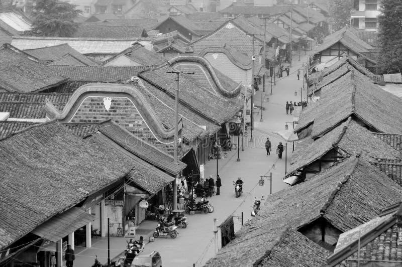Alte Stadt von Chengdu stockfotos