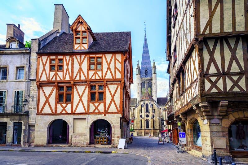 Alte Stadt von Dijon, Burgunder, Frankreich lizenzfreies stockfoto